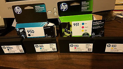 4 Empty HP Ink Cartridges HP 951 ,HP 950 for Officejet   Pro 8600