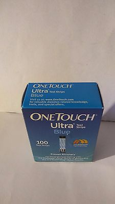One box of OneTouch Ultra Blue 100 strips exp date 04/17.