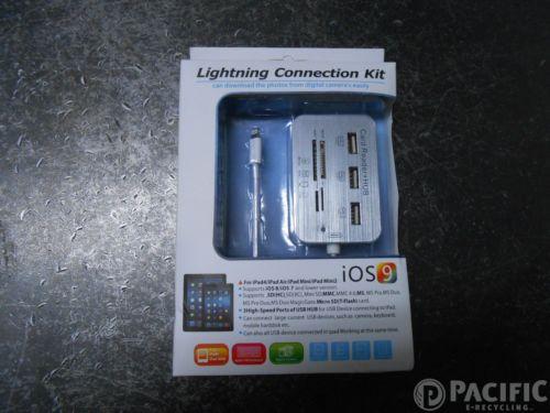 iPad Lightning Connection Kit 3 USB SD,MMC,MS,Micro SD,M2 Card Reader