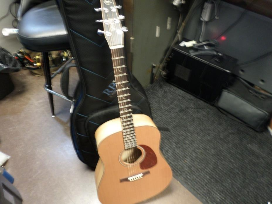 Seagull S6 Classic A/E Guitar with M-450T Electronics with Bag