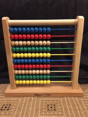 Melissa & Doug Abacus - Classic Wooden Educational Counting Toy 100 Beads #493