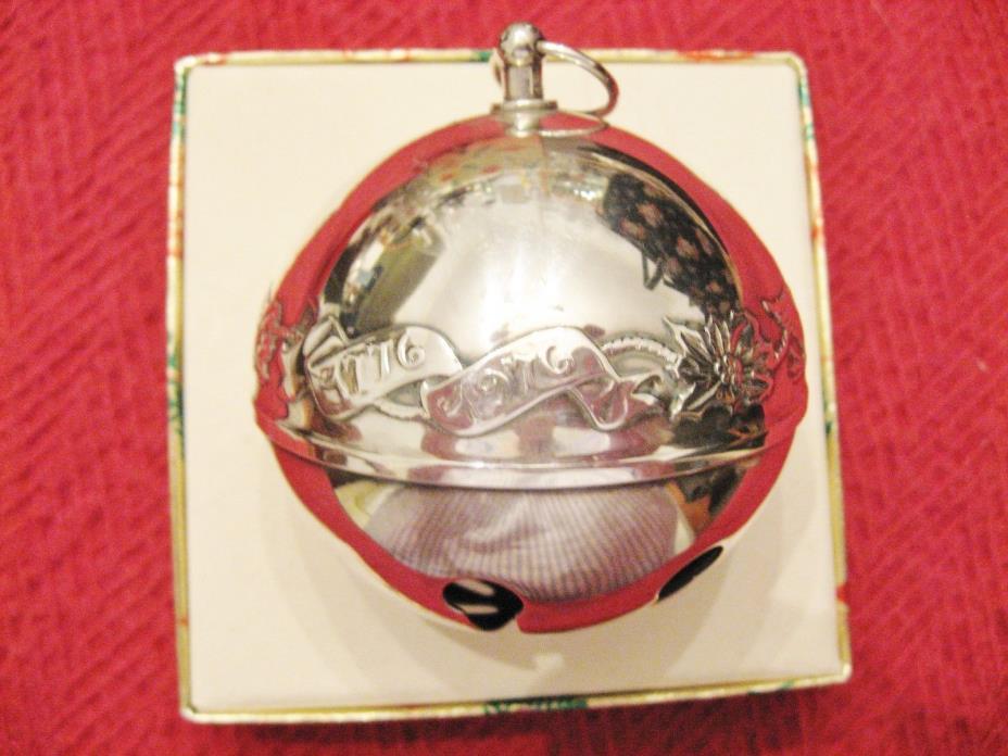 1976 Wallace Silverplate Sleigh Bell Ltd Edition 6th  Annual Christmas Ornament