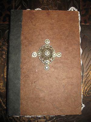 Aged Parchment & Lace Photo Album / Scrapbook Album with Gorgeous Crest