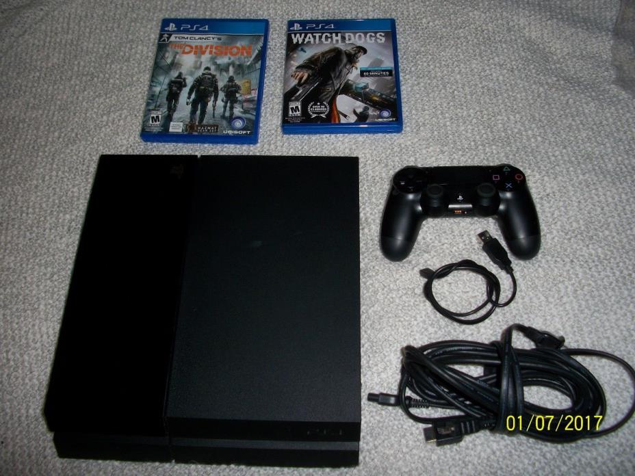 Sony - PlayStation 4 500GB PS4 BUNDLE W/WATCHDOGS, TOM CLANCY'S THE DIVISION