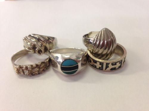 Lot Of  5 Sterling Rings 925