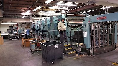 miehle 54/77 5 - color  press /  77 inch  {  FOR. PARTS ONLY. }