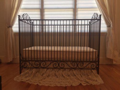 Brat Decor - Casablanca Wrought Iron Crib in Antique Gold