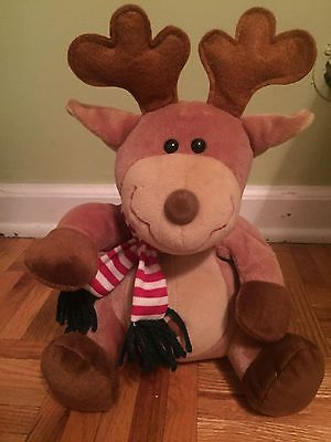 singing reindeer plush