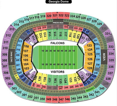 2 NFC Championship Game GREEN BAY Packers vs Falcons 1/22 LOWER LEVEL ENDZONE