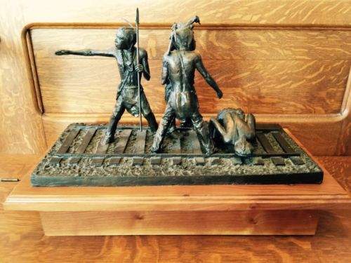 NA Bronze Sculpture Trackers Nightmare 10/25 Troy Anderson Signed COA