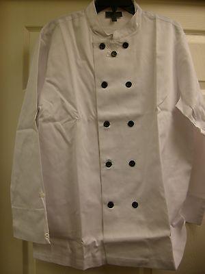 Unisex Chef Executive White Coat Jacket 1 Sleeve Pkt Uniform Kitchen  Size: MD/M