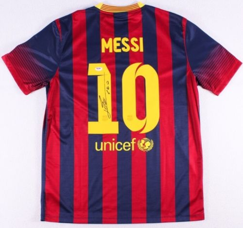 Lionel Messi Singed Barcelona Jersey