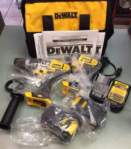 NEW Dewalt DCK290L2 20V MAX Li-Ion Combo Kit DCD985 Hammer Drill DCF885 Impact