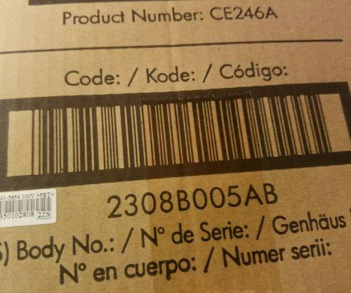HP CE246A Color Laserjet Fuser Kit CP4025 CP4525 New Oem