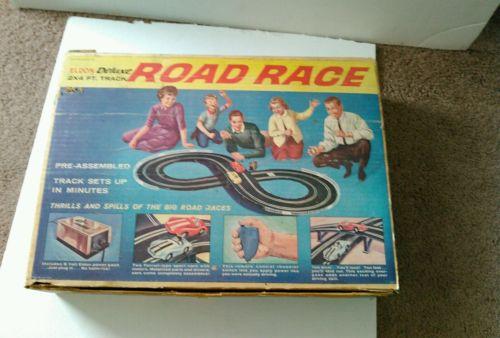 VINTAGE 1962 ELDON DELUXE ROAD RACE SET PARTS only