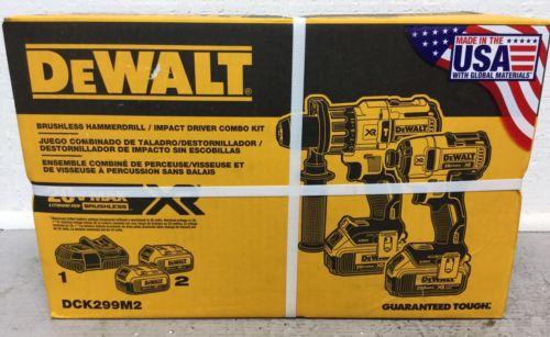 Dewalt DCK299M2 20V MAX XR Brushless Hammer Drill / Impact Driver