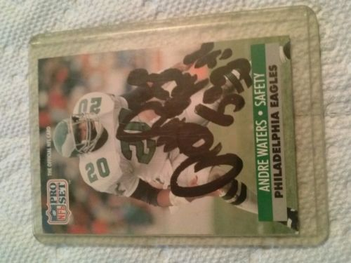 Andre waters autograph pro set card