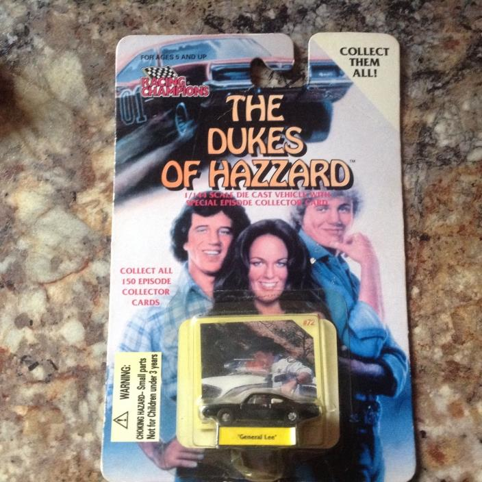 1997 Racing Champions The Dukes of Hazzard 1/144 Die Cast General Lee Black Car