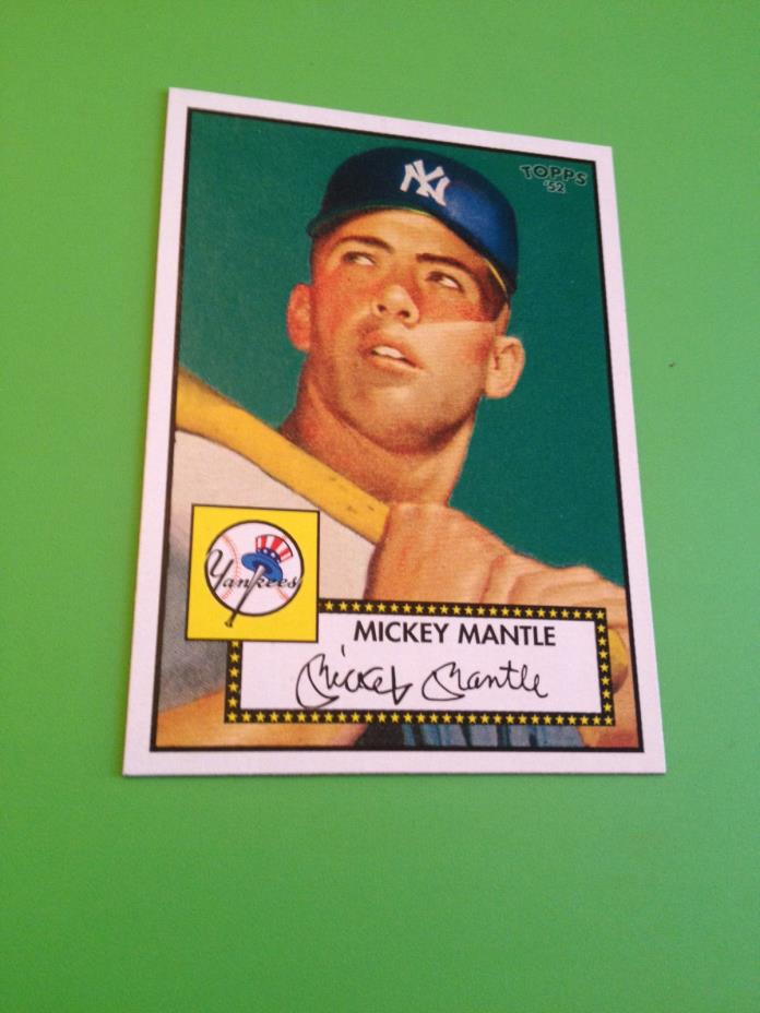 1952 Topps Mickey Mantle Yankees #311  Reprint Baseball Card MINT