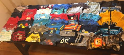 Boys Size 4T Fall Clothes Lot of 79 Items