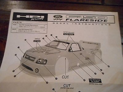 HPI Ford f-150 Flairside R/C  Body
