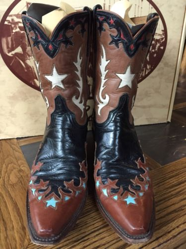 LUCCHESE •CLASSIC Cutouts & STARS •9M • BLACK •Buff • TURQUOISE • Saddle Brown •