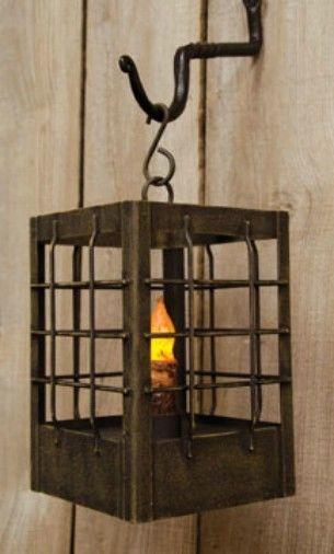 PRIMITIVE HOME DECOR ~Post Lantern