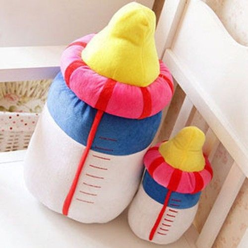 Kids Cartoon Milk Bottle Plush Toys