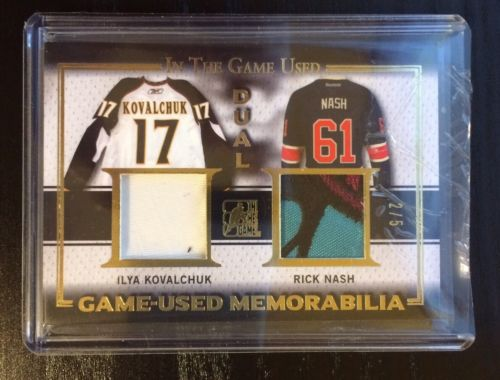 2016 IN THE GAME USED-GAME USED MEMORABILIA-DUAL KOVALCHUK/NASH-2/5