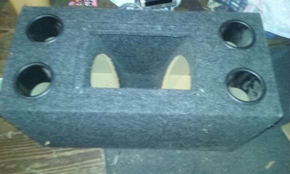 **** 12 inch sub box ** bandpass ** fits 2 subwoofers ** no subs with box **look