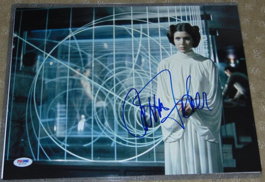 Star Wars CARRIE FISHER Signed Autograph 11X14 PRINCESS LEIA  PSA