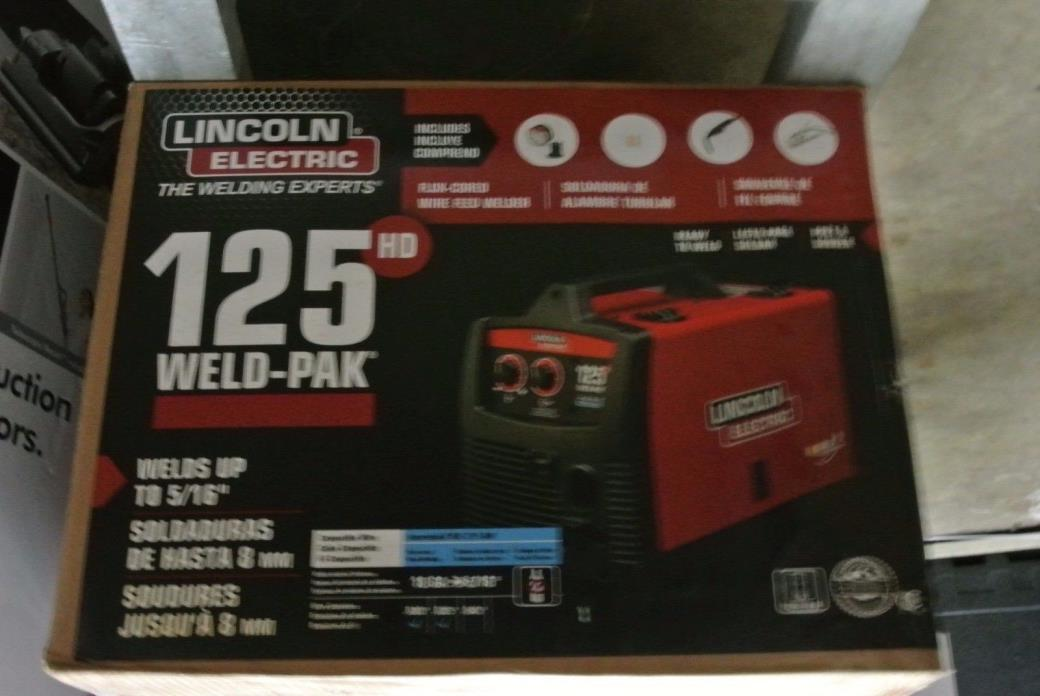 Lincoln Electric 125-Amp Weld Pak HD Flux Cored Wire Feed Welder Welding Machine