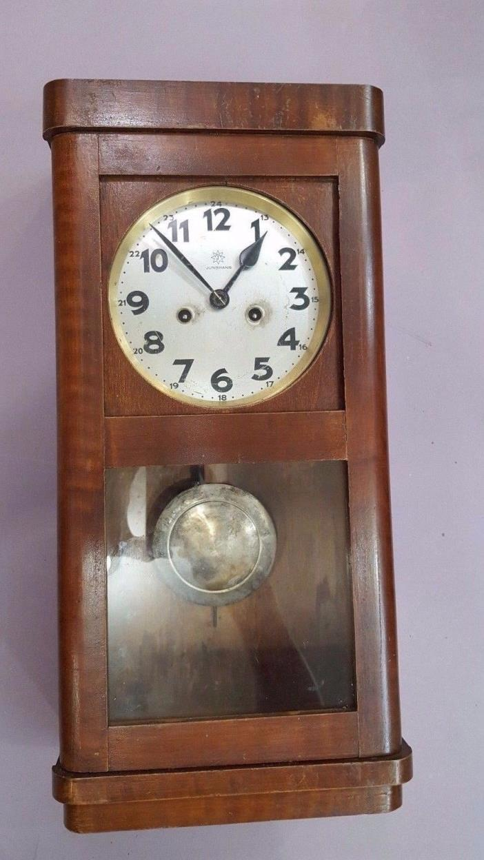 Antique Wall Clock,  Junghans Wurttemberg Pendulum Box Clock