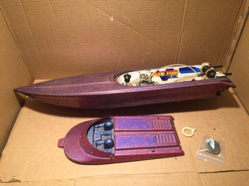 Gas RC BOAT rc Toy Alcohol Methanol Big  31 X 9  Deep v Vintage Boat, Motor Prop