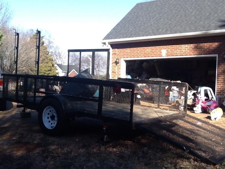 MOWING / LANDSCAPE HIGH SIDE TRAILER WITH GATE PLUS SIDE GATE