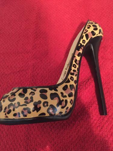 Leopard Decorative Shoe Candle Holder