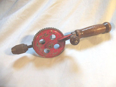 Vintage egg beater style hand drill