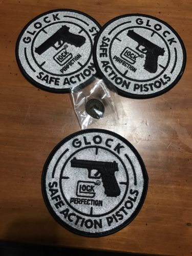 Glock Velcro & 2 Iron On Patches Plus Pin