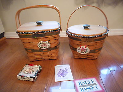 Longaberger Basket Lot 1994&1995 Christmas Baskets Complete Combos