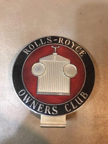 VINTAGE ROLLS ROYCE OWNERS CAR BADGE