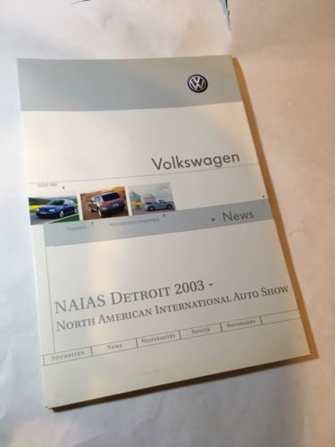 VW Press Kit, 2003 Detroit Auto Show (NAIAS)