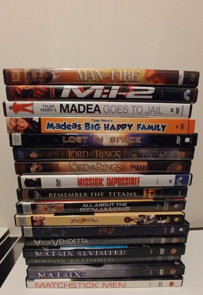Lot of 17 USED DVDs