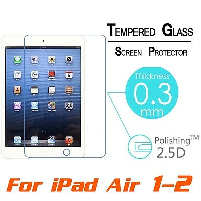 Premium Real Tempered Glass Screen Protector film For IPad 2/3/4