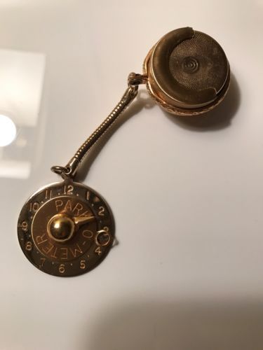 Vintage Park O Meter Keychain Fob Token And Coin Holder