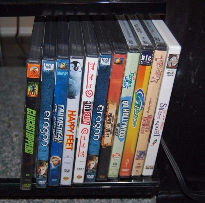 LOT OF 11 FAMILY FRIENDLY DVD'S LOT 11
