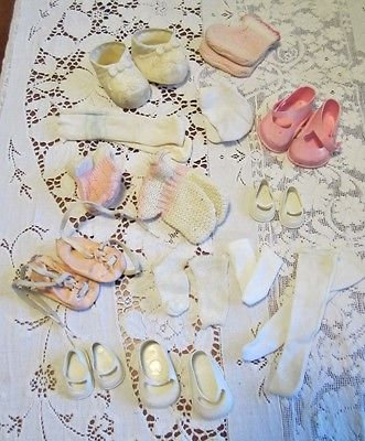 Vintage Lot Doll Shoes and Socks Clothes Collectibles Baby Doll