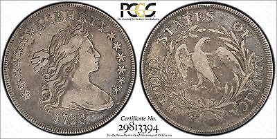 1798 SMALL EAGLE Draped bust dollar PCGS VF25 CAC...SWEET COIN !