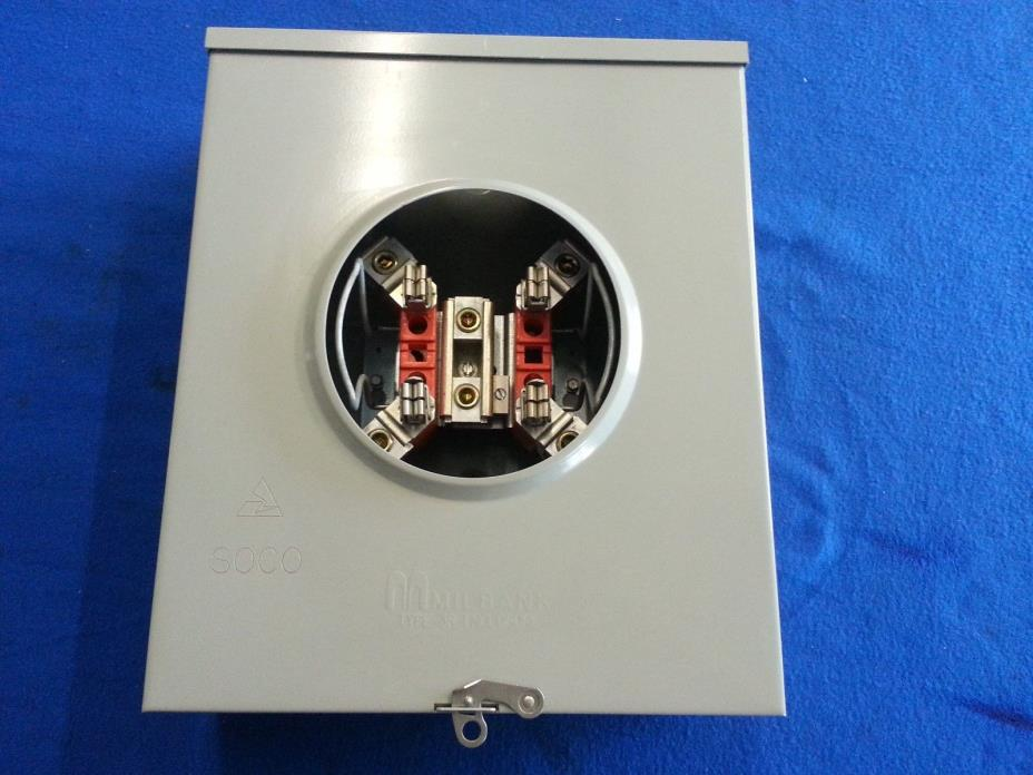 MILBANK SINGLE PHASE 200 AMP METER BOX