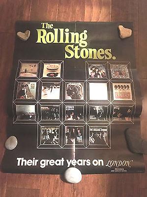 Rolling Stones 1977 ORIGINAL Promo Poster London Records (Store Display)