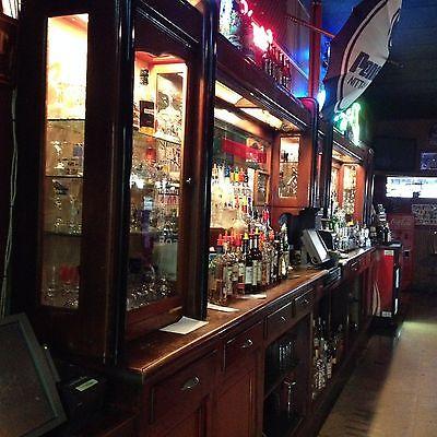 MahoganyAntique Back Bar & Bar / Deco Style